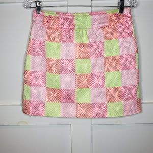 Vineyard Vines Patchwork Whale Skirt Pockets 0